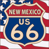 6x6 Tile Route 66 New Mexico on American Flag