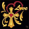 6x6 Tile Love Heart with Cross