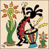 6x6 Tile Koko Playing Drum 7786A