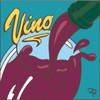 6x6 Tile Vino Wine Pour