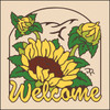 6x6 Tile Welcome Sunflowers Sand 7952A