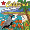 6x6 Tile California State Symbols 7638A