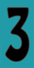 3x6 Tile House Number Turquoise #3