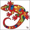 6x6 Tile Talavera Lizard 7829A