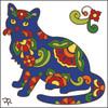 6x6 Tile Talavera Cat White 8012W