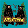 6x6 Tile Welcome Bears Turquoise 7949TQ