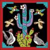 6x6 Tile Cactus & Birds