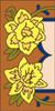 3x6 Tile Garden Daffodil Left