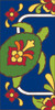 3x6 Tile Cobalt Talavera Turtle Left End