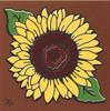 """6X6 Tile Sunflower """"Naturals"""""""