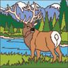 6x6 Tile Elk