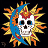 6X6 Tile Day of the Dead Southwest Sun Moon