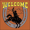6x6 Tile Welcome Rodeo Terracotta 7958R