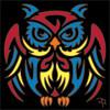 6x6 Tile Tribal Owl 8232A