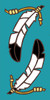 3x6 Tile Deco Feather (Turquoise)