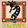 6x6 Tile Colorado Kokopelli
