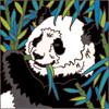 6x6 Panda Bear 8114A