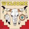 6x6 Tile Welcome Steer Skull Sand 7700A
