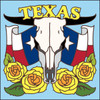6x6 Tile Texas Cow Skull