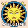 6x6 Tile Welcome Sunface