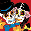6x6 Tile Day Of The Dead Bride And Groom