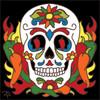 6x6 Tile Day of the Dead Chili Pepper Sugar Skull 8020A