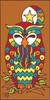 3x6 Tile Nesting Owl Terracotta 13030R