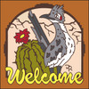 6x6 Tile Welcome Roadrunner Terracotta 7944R