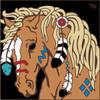6x6 Tile War Pony/ Palamino 7809A