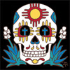 6x6 Tile Day of the Dead Zia Skull 8198A