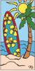 3x6 Tile Beach Surf Board