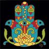 6x6 Tile Hamsa Hand Indian Mandala