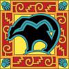 6x6 Tile Native American Bear w/Arrow