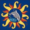 6x6 Tile Nautical Sun with Dolphin 8354A