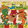 6x6 Tile Welcome Chili Mariachis Sand 7729A