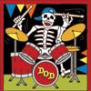 6x6 Tile Day of the Dead Drummer Rocker 7851A