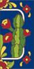3x6 Tile House Number Cobalt Talavera Cactus Right 3068AR