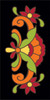 3x6 Tile Talavera Design Black
