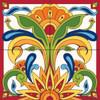 12x12 Tile Mural Red Talavera Design