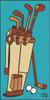 3x6 Tile Vintage Golf Bag Turquoise3026TQ