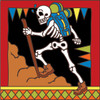 6x6 Tile Day of the Dead Hiker