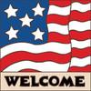 6x6 Tile Welcome Flag