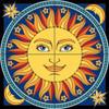 12x12 Tile Mural Celestial Sun