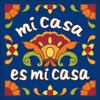 6x6 Tile Talavera Mi Casa Es Mi Casa Cobalt 8136C