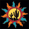 6x6 Tile Southwest Sun with Saguaros 8350A