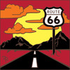 6x6 Tile Route 66 Sunset Silhouette