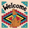 6x6 Tile Welcome Coyote