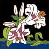 6x6 Tile White Lillies 8291A