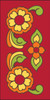 3x6 Tile Talavera Design Red