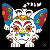 6x6 Tile Day of the Dead Playful Chihuhua 8300A